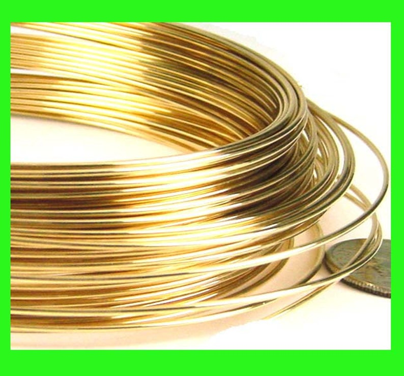 20 gauge Dead soft 14k yellow Gold Filled Round beading wrapping wire 2 feet