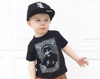 Eazy E KId Tribute youth shirt. Printed on ultra soft ring spun cotton