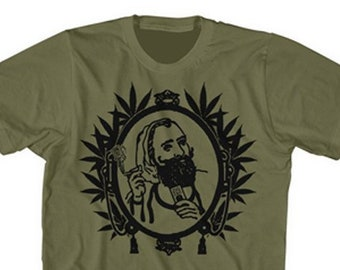 Zig Zag Man Marijuana Shirt by Graphic Villain