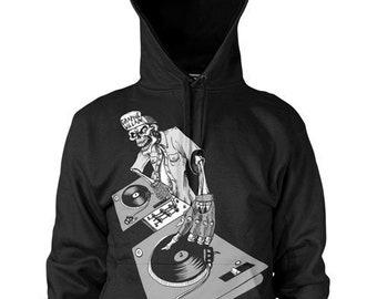 Graphic Villain Hip Hop DJ Turntable  Hoodie