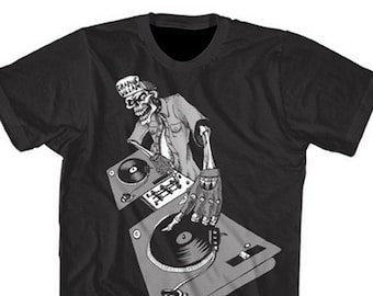 Graphic Villain DJ Turntable Hip Hop shirt