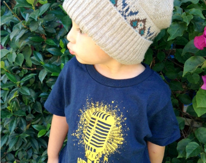 HipHop Forever Microphone youth shirt by Graphic Villain printed on ultra soft ring spun cotton