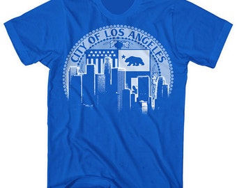 Los Angeles City of LA skyline shirt by Graphic Villain printed on ultra soft ring spun cotton