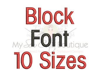 cd7505cee5 Block Monogram Font - BX PES Machine Embroidery Fonts Designs - 10 Sizes -  Instant Download