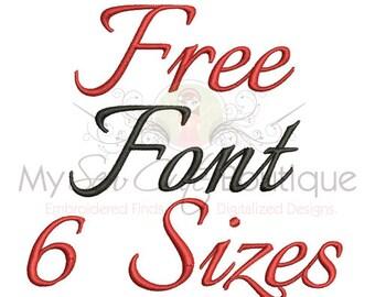 Free Embroidery Fonts Machine Monogram PES Download Designs - Free Embroidery Designs to Download - Free Monogram Font PES - 6 Sizes