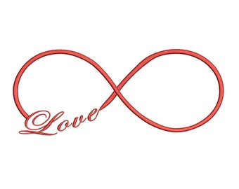 Love Infinity Embroidery Design