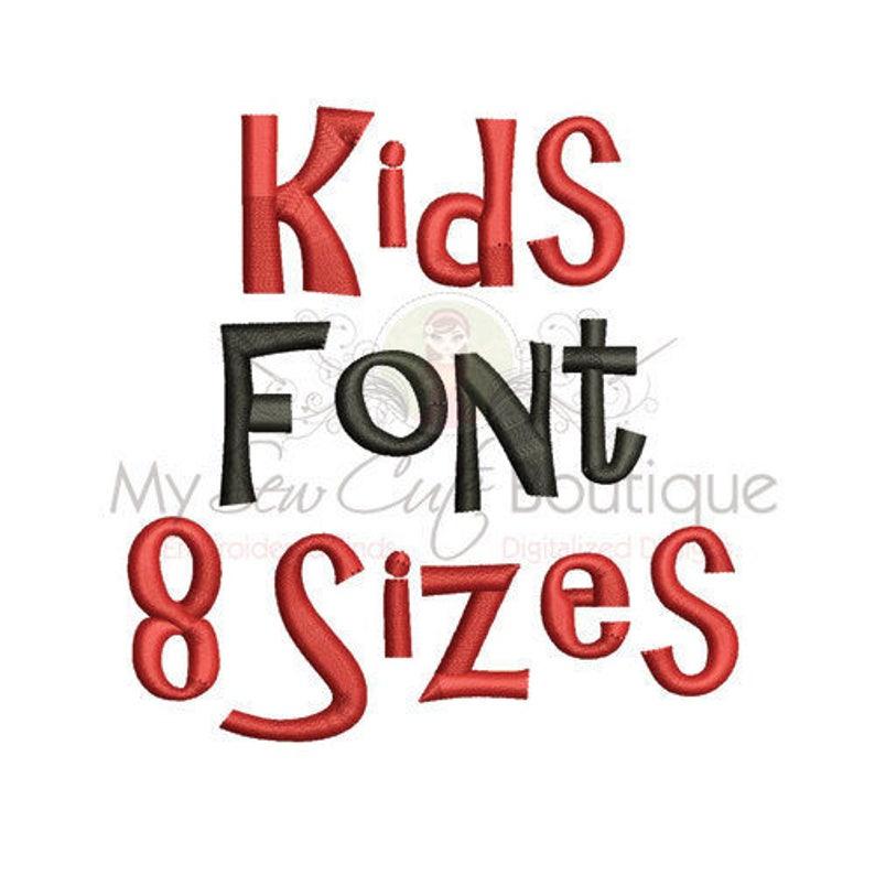 Kids Machine Embroidery Font Monogram Alphabet, Kids Embroidery Font  Embroidery Designs, Monogram Embroidery Letters, Thick Embroidery Font