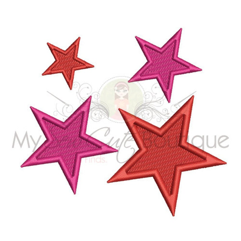 Star Machine Embroidery Design Star Embroidery Design Small image 0