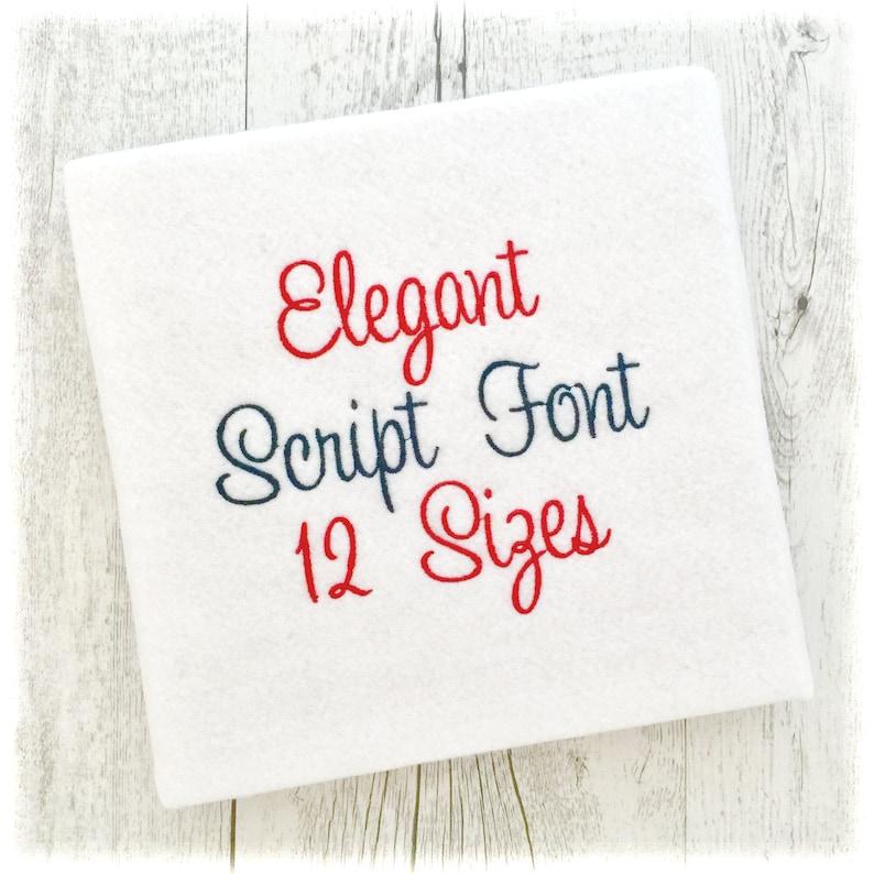 Elegant Machine Embroidery Font Monogram Alphabet Elegant image 0