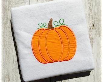 Pumpkin Applique Machine Embroidery Designs Halloween Applique Design, Boy Pumpkin Applique Design, Thanksgiving Applique Design