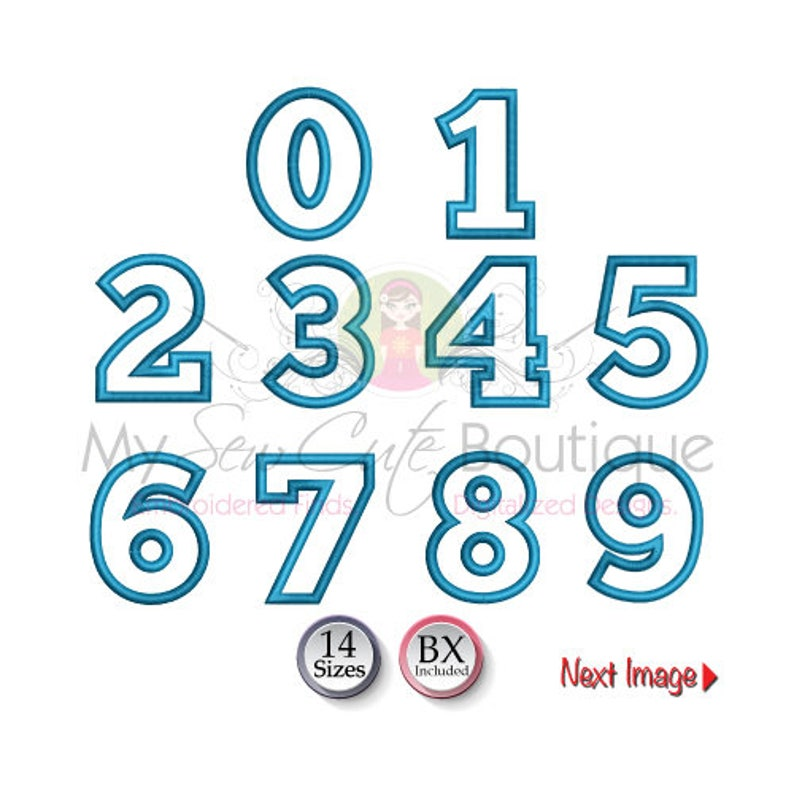 Number Applique Machine Embroidery Designs Applique Numbers image 0