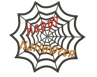 Happy Halloween Embroidery Designs Machine Sayings Patterns - Embroidery Downloads - Holiday Embroidery Designs - 3 Sizes - Instant Download