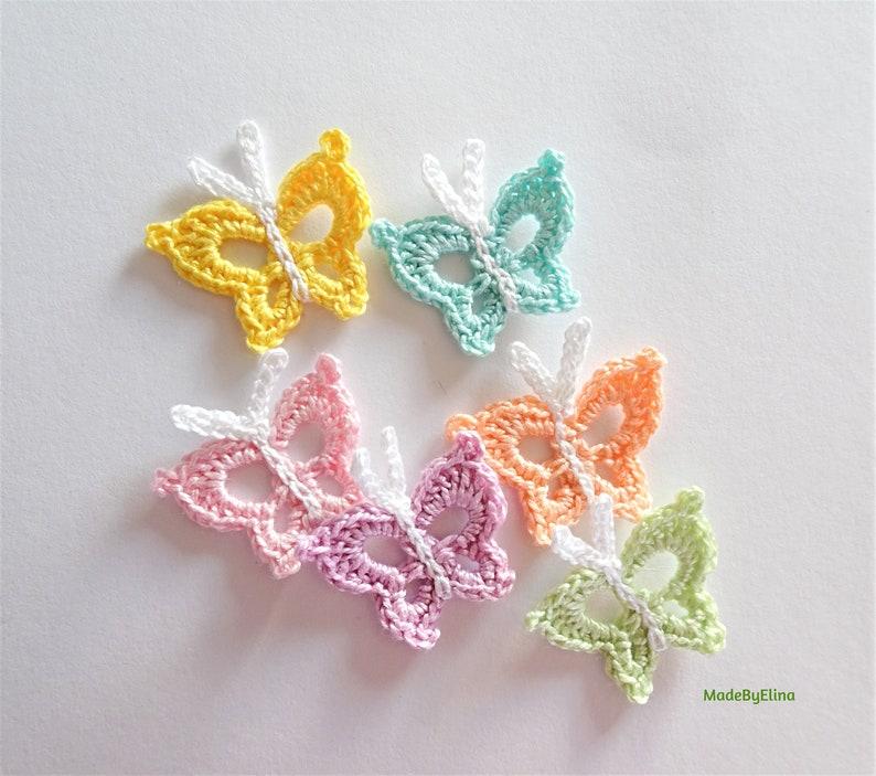 Pastell Schmetterlinge Schmetterling Applikation Häkeln Etsy