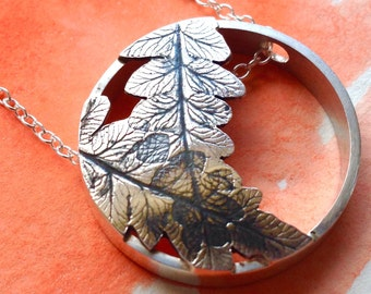 Overlapping Sterling Silver Bracken Necklace