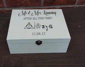 Wedding Harry Potter always Keepsake Memory Box personalized wooden box  personalized