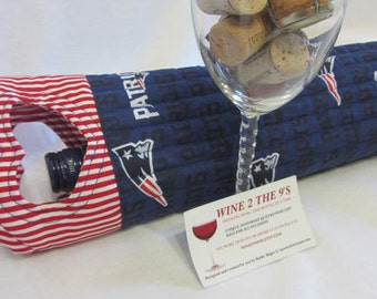 Patriots Tailgating Wine Bag Wine Tote Bag NFL Gift Gift Under 25 SuperBowl Made in USA