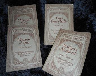 Four 1930's Play Scripts, three titles (FFs1093)