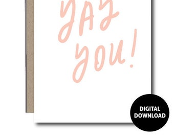 DIGITAL DOWNLOAD   Greeting Card   Congratulations Card   Instant Download   Paper Goods   PDF Printable   Handwritten   5x7