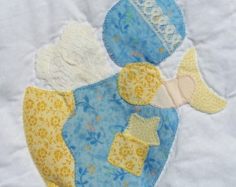 Catch a Falling Star -- Hand Appliqued and Hand Quilted