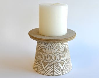 S A N D S T O N E: ceramic candle holders