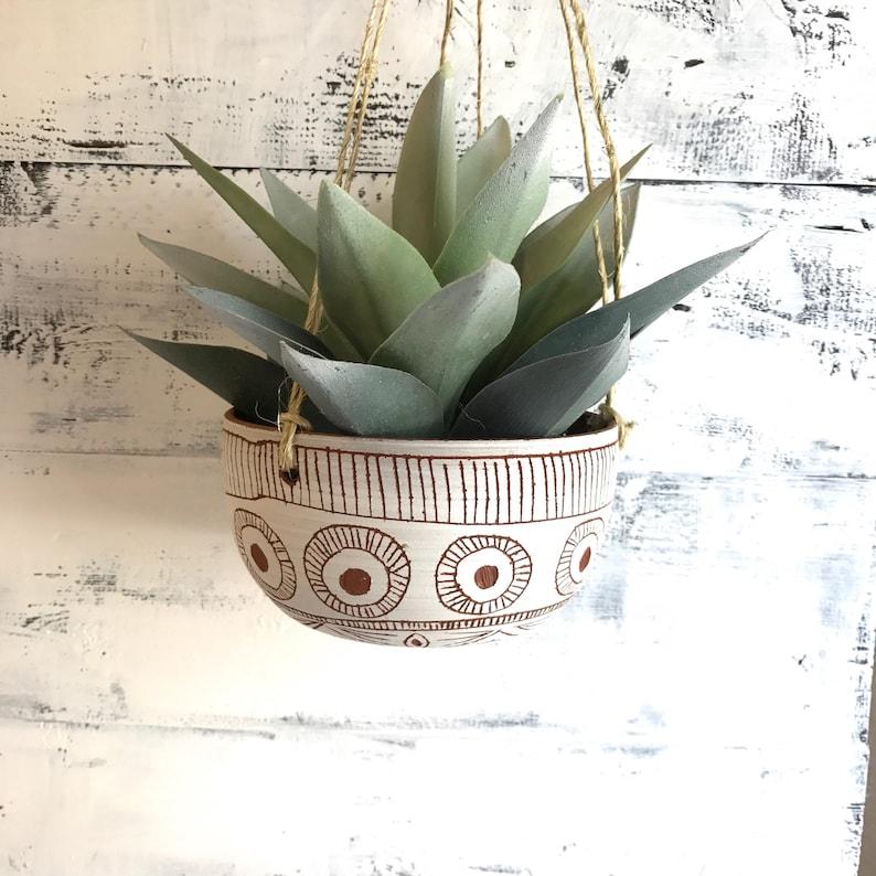 Ceramic hanging planter T E R R A C O T T A