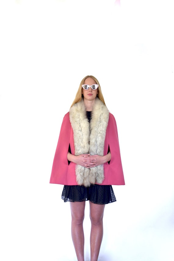 60s Lilli Ann Bubblegum Pink Purple Polyester Knit
