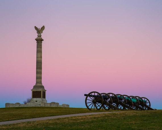 Real Canvas Fine Art Print US American Civil War Art Battle of Antietam