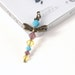 Dragonfly Gift Dust Plug - Turquoise Blue, Purple Opalite, Bright Yellow Crystal Beads, Cute Phone Charm, Smartphone Accessory