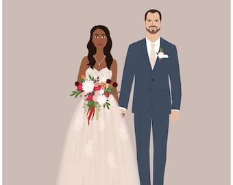 Newlywed portrait, newlywed gift, wedding portrait