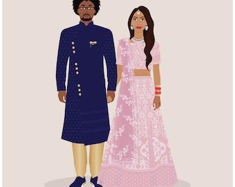 Wedding Portrait, custom wedding portrait, one year anniversary