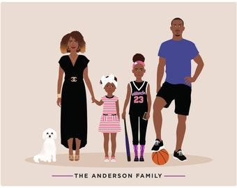 Custom Portrait, family portrait illustration