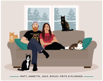 Family drawing, add pet