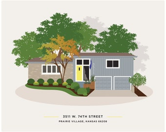Home illustration /house drawing