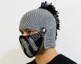 Accessories mens gifts boyfriend gift Knight Helmet husband gift Gift Christmas Beanie Hat Handmade Winter Men Snowboard Ski unisex