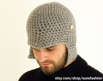 boyfriend gift hat Crochet Slouch  Mens Convertible Helmet Hat Winter Men Snowboard Ski Beanie unisex