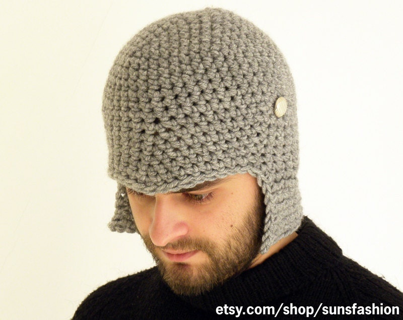 Boyfriend gift hat Crochet Slouch Mens Convertible Helmet Hat  82a469e49ec