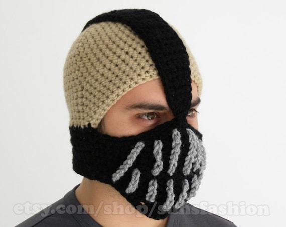 Ski Mask Bane Mask Batman Crochet Beanie Hat Slouch Mens