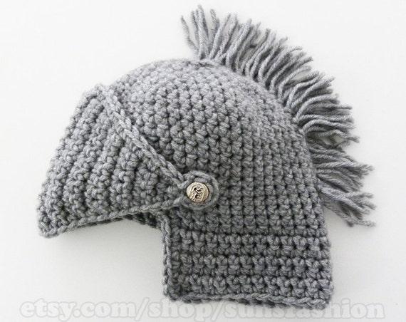 Mens Winter Boyfriend Gift Mens Knight Helmet Hat Crochet Etsy