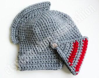 bane mask Knight Helmet Crocheted hat Slouch Crochet Mens Convertible Helmet Hat Handmade Winter Men Red Silver