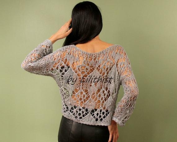 da07fe89fc Knit Sweater for Women Cotton Top Tunic Knit Top Festival
