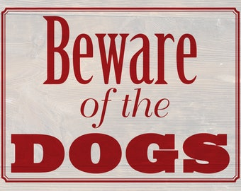 """2-sided """"Beware of Dog"""" sign with """"Please keep gate closed"""" on other side. Can be personalized."""