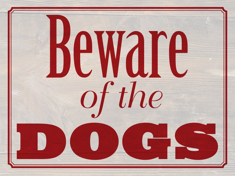 2-sided Beware of Dog sign with Please keep image 0