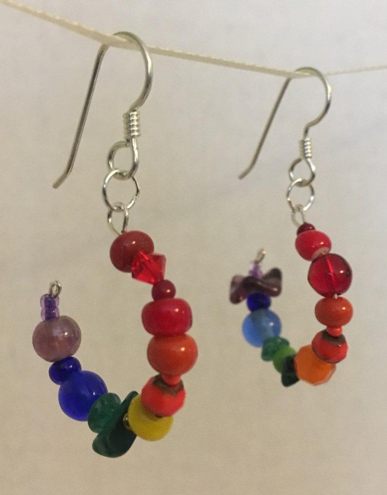 Rainbow girl earrings image 0