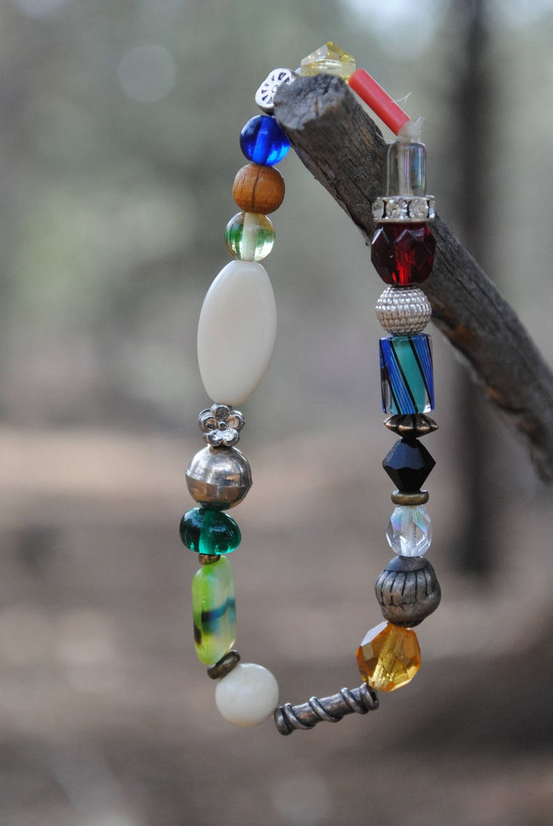Fun colorful beaded stretchy bracelet image 0