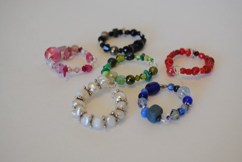 Don't Lose your Booze Set of 6 Stem Glass Charms image 0
