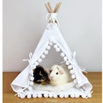 Guinea Pig Teepee with a Soft Pad, Guinea Pig Bed, Rat Bed, Chinchilla Bed, Small Pet Teepee