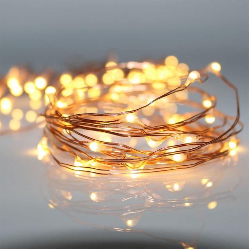 Christmas Led String Lights.Christmas Led String Lights 13ft Micro Led Lights Warm White Copper Wire Battery Operated Led Fairy Lights For Teepee Decoration
