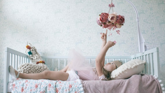 Kronleuchter Floral ~ Blume mobile floral mobile baby mädchen mobile blumen etsy
