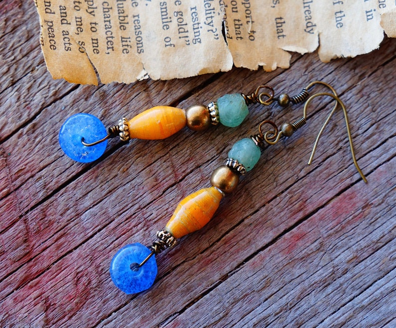 Wood Beads DIY Handmade Jewelry Crafts Wooden Bead Earrings Geometric Love NB