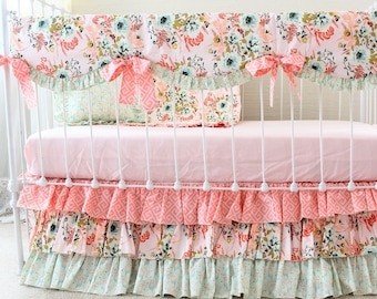 Girl Nursery Bedding Etsy